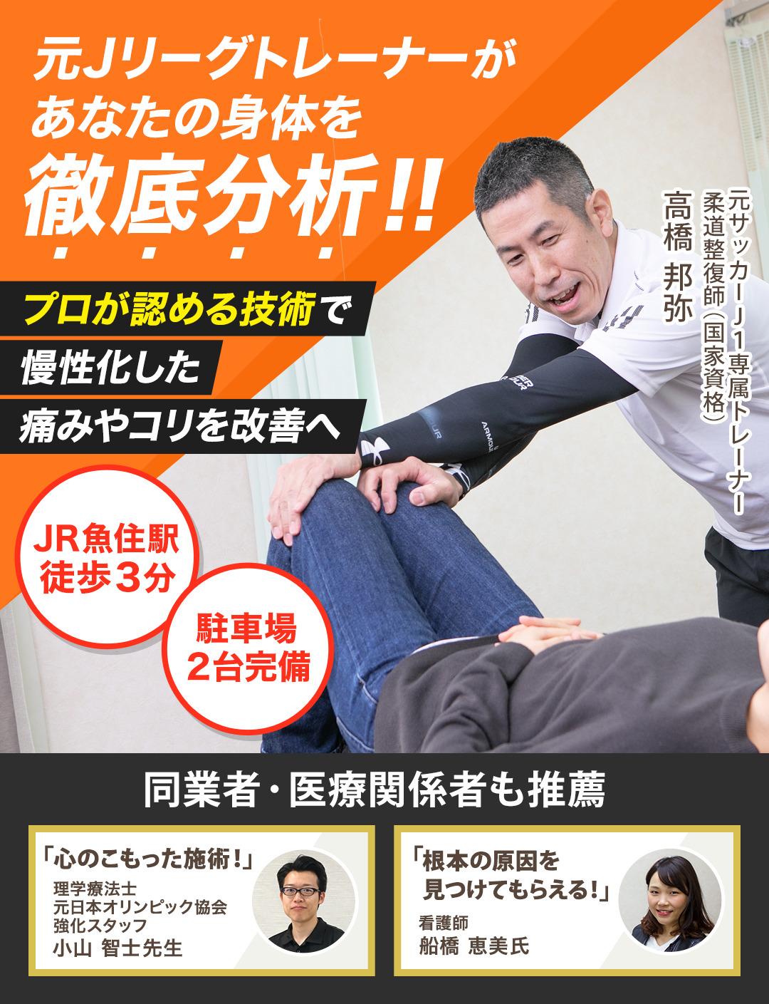 元Jリーグトレーナーがあなたの身体を徹底分析!!